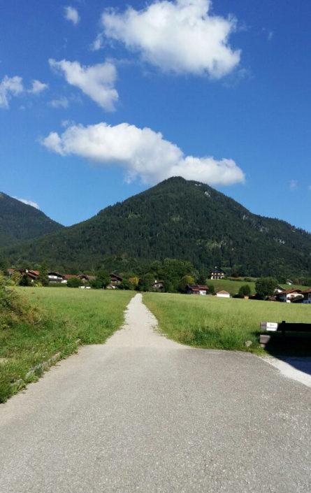 Blick auf den Berg Hochgern